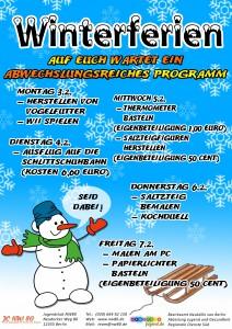Plakat Winterferien